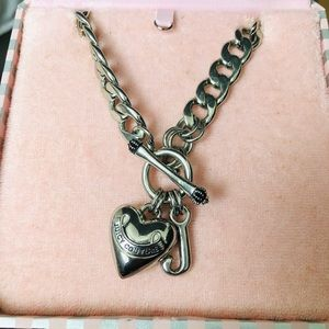 Silver chain Juicy Couture necklace